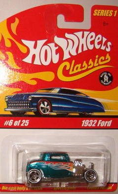Hot Wheels Classic Series 1: 1932 Ford #6 of 25 1:64 Scale Collectible Die Cast Car with a Special Spectraflame Paint - 1