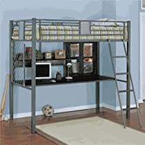 Hot Sale Powell Monster Bedroom Study Loft Bed, Twin