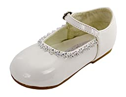 Brianna\'s Patent Leather Party Shoes for Infants (Infants 5, Ivory)