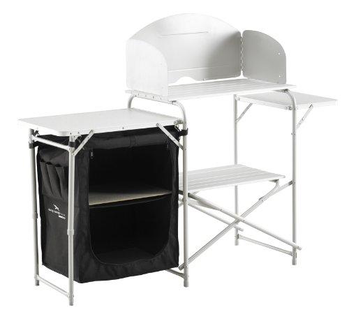 modego easy camp sarin meuble de cuisine de camping noir 143 x 48 x 110 5 cm. Black Bedroom Furniture Sets. Home Design Ideas