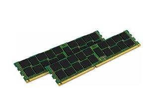 Kingston Technology ValueRAM 32 GB Kit of 2 (2x16 GB Modules) 1333MHz DDR3 PC3-10666 ECC Reg CL9 DIMM DR x4 Server Memory (KVR13R9D4K2/32)