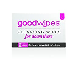 GoodWipes - Cleansing Flushable Wipes for Down There - For Gals with Vitamin E and Aloe (30 Count)