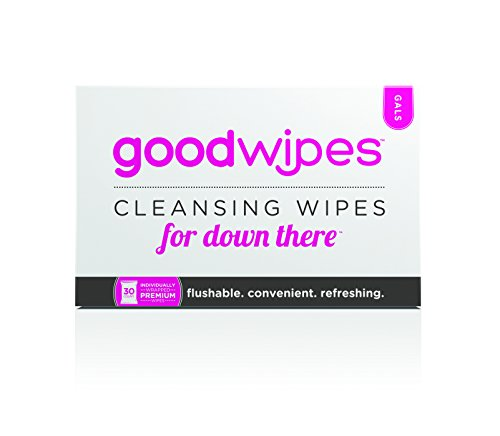 GoodWipes - Cleansing Flushable Wipes for Down There - For Gals with Vitamin E and Aloe (30 Count) (Flushable Adult Wet Wipes compare prices)