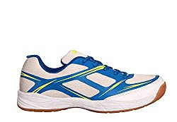 Nivia Super Court Badminton Shoes white/blue