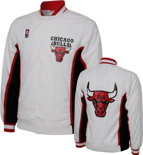 Chicago Bulls 1992-1993 Mitchell & Ness Authentic White NBA Warm Up Jacket (4XL) at Amazon.com