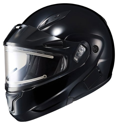 HJC CL-Max 2 Solid Bluetooth Ready Modular Snowmobile Helmet with Electric Shield - Black, X-Large (Modular 2 Helmet Shield compare prices)