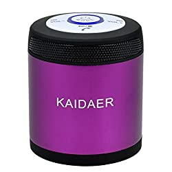 CHEERLINK® Kaidaer Ultra Portable Bluetooth Wireless Speaker with 360-Degree Circle Sound Technology and Built-In Speakerphone (PURPLE)