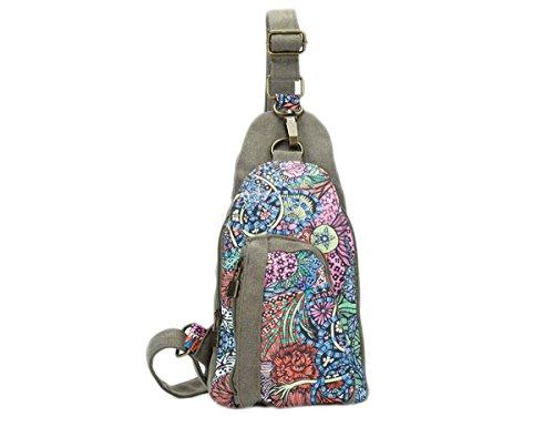Donne Tela sacco Travel Sling Bag petto spalle squilibrio Gym Fanny zaino,, 3Stile, (Farbe 3), Mittel