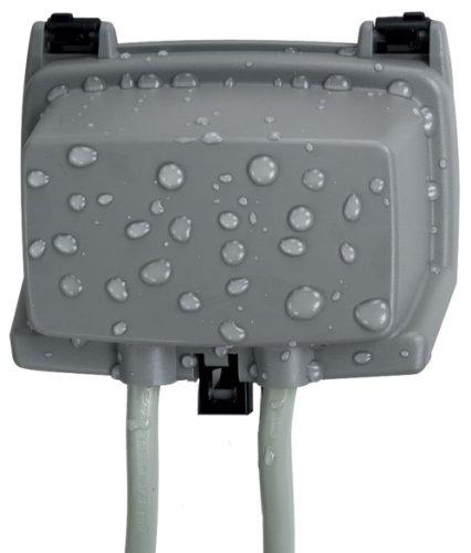 Intermatic WP1000HGC 1 Gang 2-1/4-Inch Outdoor Horizontal Box, Grey