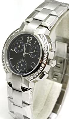 Concord La Scala Chronograph with Diamond Markers and Diamond Bezel Men's Watch