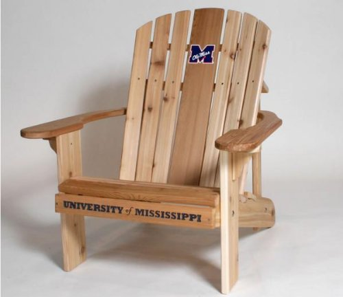 University of Mississippi Ole Miss Logo Adirondack Chair with 23 inch Seat Width