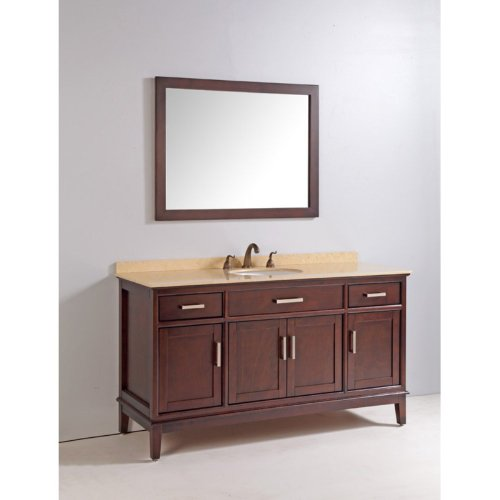 Legion Furniture 60-in. Double Bathroom Vanity Set with Faucet