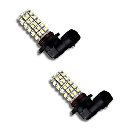 Pair Super White H10 68-Smd Led Headlight Bulbs For Driving Fog Light