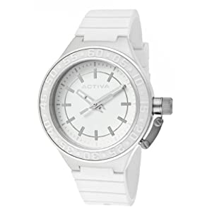 Activa By Invicta Women's AA301-001 White Dial White Polyurethane Watch