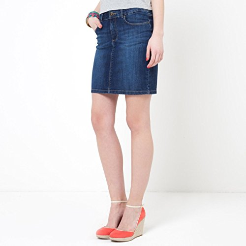 купить R Essentiel Womens Stretch Cotton Denim 5-Pocket Skirt дешево