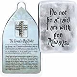 "1 1/4"" Pewter CROSS in my POCKET Token with VERSE ""Do Not Be Afraid, I Am With You Always"" INSPIRATIONAL Christian Reminder/GIFT Keepsake/MOMENTO"