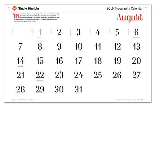Calendar Typography Life : Typography calendar sizes available quot lx w