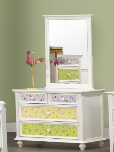Whimsy Dresser & Mirror By Homelegance In White front-951710