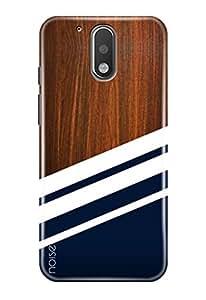 Noise Back Cover Case for Moto G4 Plus (Gen 4) / 4th Generation (Wooden Blue Diagonals) (GD-341)
