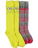 "SpongeBob Squarepants ""Stripes"" 2-Pack Knee-High Socks"