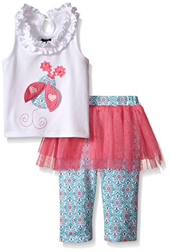 Mud Pie  Baby Girls' Ladybug 2-Piece Set, Multi, 12-18 Months (Mud Pie Girl 18 Months compare prices)
