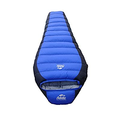 Best Mummy Sleeping Bag - Aektiv Outdoor 15 Degree Down Mummy Sleeping Bag, Mummy Style (28x8x82), Three Season(spring, Summer, Fall) Camping & Hiking Sleeping Bag with Compression Sack, Lightweight, Ultra-compatible, Waterproof