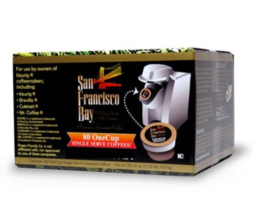 Sale!! San Francisco Bay Coffee OneCup for Keurig K-Cup Brewers, Organic Rainforest Blend, 80-Count