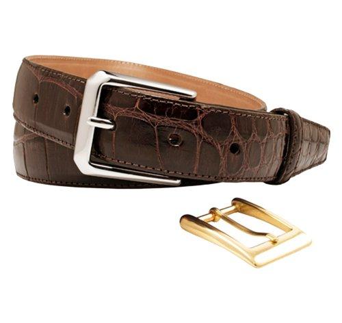 Trafalgar Classic Alligator Belt (32 Brown)