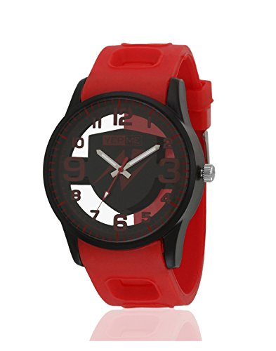 Yepme Men's Transparent Analog Watch – Black/Red_YPMWATCH3157