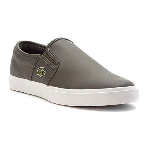 Lacoste Men's Gazon 316 1 Spm Fashion Sneaker, Dark Grey, 11 M US