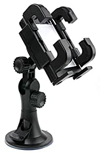 DURAGADGET Non-Slip Windscreen & Vent Mount With Adjustable Vent Clips For HTC One V & EVO 3D