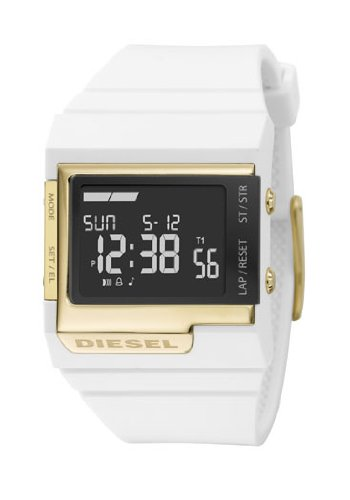 Diesel DZ7149 Unisex White Rubber Strap Digital Watch