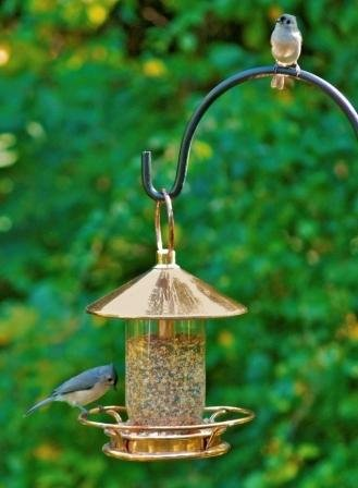 Image of Classic Copper Roof Bird Feeder | Holds 3+ Pounds of Seed (B005NCERLI)
