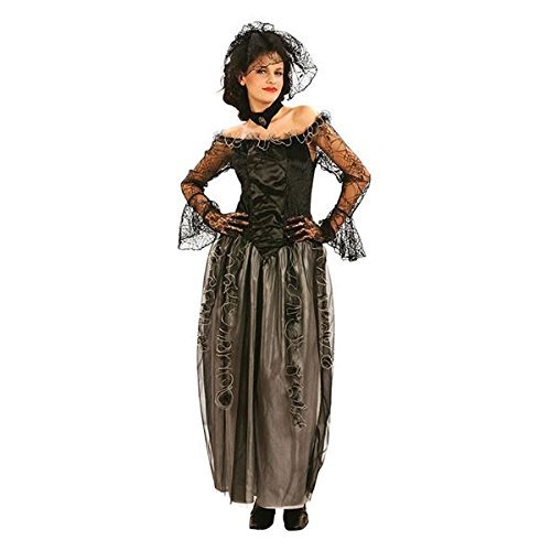 Adult Womens Black Widow Long Dress Halloween Costume Fancy Dress Outfit