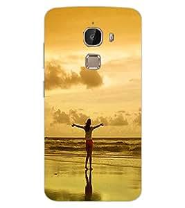 ColourCraft Amazing Sunset Design Back Case Cover for LeEco Le 2 Pro