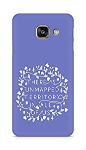 AMEZ there is unmapped territory in all of us Back Cover For Samsung Galaxy A3 (2016 EDITION)
