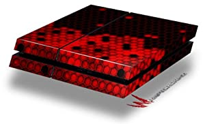 HEX Red - Decal Style Skin fits original PS4 Gaming Console