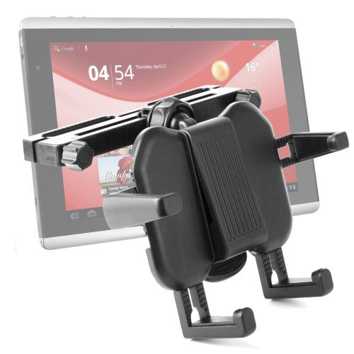 Adjustable Vehicle Headrest And Tray Cradle Mount For Packard Bell Liberty Tab G100, Liberty Tablet & Zenithink ZTPad C71 (7 Cortex A9 CPU, Android 4.0 Ice Cream Sandwich) Tablet PC