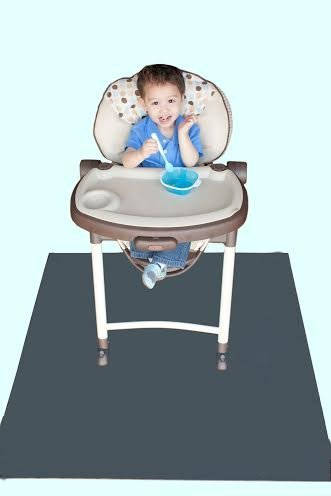 Tarpy Highchair Splat Mat, Activity & Cleanup Canvas (Gray Mist)