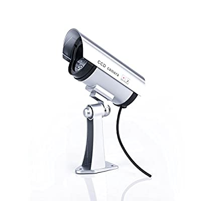 SoldCrazy Outdoor/Indoor Wireless Surveillance Equipment Fake Surveillance Security Camera with Flashing LED Light