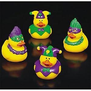 Vinyl Mardi Gras Rubber Duckys