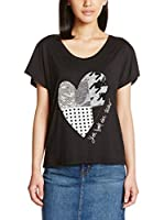 Desigual Camiseta Manga Corta (Negro)