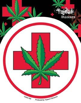 NSI - Medical Marijuana Pot Leaf - Sticker / Decal (Pot Leaf Decal compare prices)