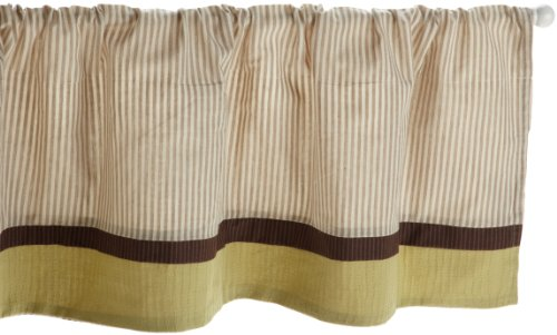 Kids Line Animal Acres Valance, Green/Brown front-982136