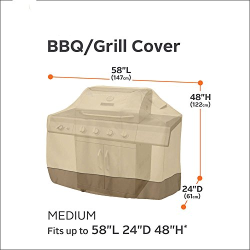 Medex Lab Multi-Use Water Proof Large Grill Cover with Case Bag Grill Cover: Great use for Motorcycles, Bicycles, Backyard Furnitures and so much more (1 Beige) (Pedestal Grill Cover compare prices)
