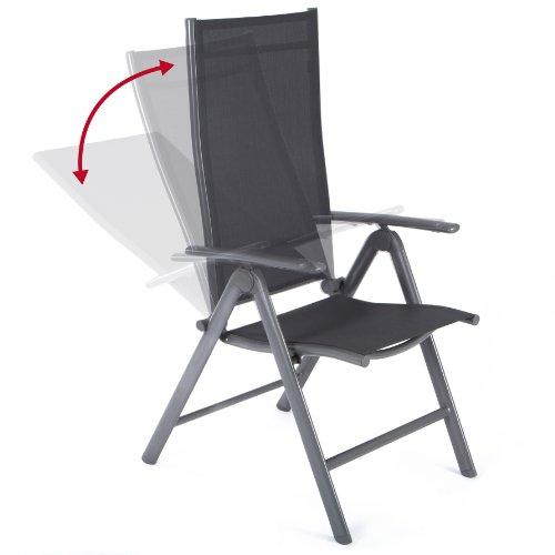 Ultranatura Aluminium Folding Chair, Korfu Series - Basic