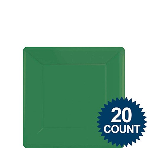 Green Party Supplies Square Dessert Paper Plates 20ct [Toy] [Toy]