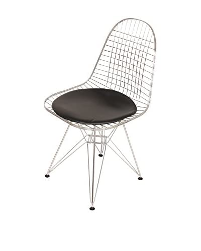 Control Brand Anders Side Chair, Black/Chrome