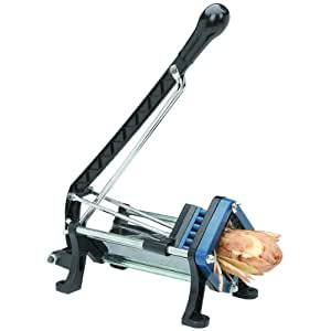 Professional Heavy Duty French Fry and Vegetables Cutter with two pushing blocks and two cutting frames