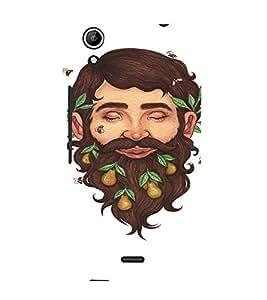 EPICCASE Wild Beard Mobile Back Case Cover For Micromax Canvas Selfie Lens Q345 (Designer Case)
